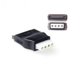 Verloop adapter SATA power male - 4-pin molex female
