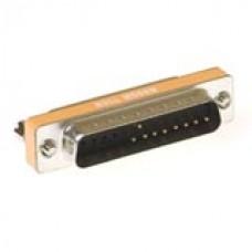 D-sub null modem adapter 25-polig female - 25-polig male