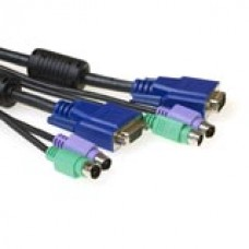 3-in-1 aansluitkabel 2x PS/2, 1x VGA