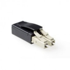 Fiber optic LC loopback adapter