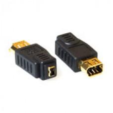 Firewire IEEE1394 conversie adapter 4-pin female - 6-pin female