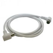 CAI aansluitkabel  IEC male - IEC female met haakse connectoren
